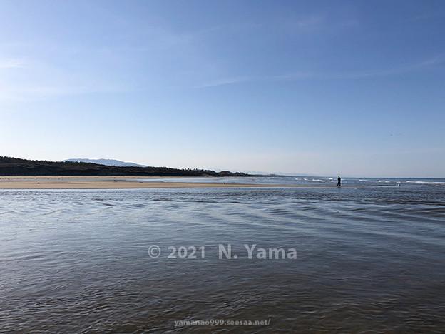 2021年2月28日、一ノ宮海岸