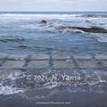 Photos: 2021年3月7日、粟津海岸風景