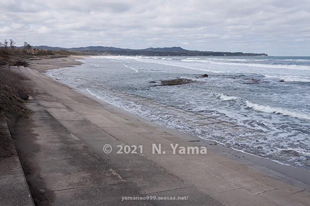 2021年3月8日、高波海岸風景