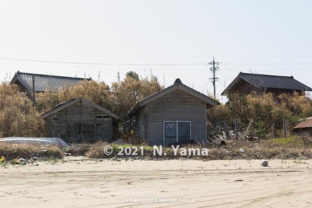 2021年4月3日、大島漁港風景