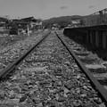 津波で廃線になった鉄路