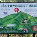 十種ヶ峰登山案内図