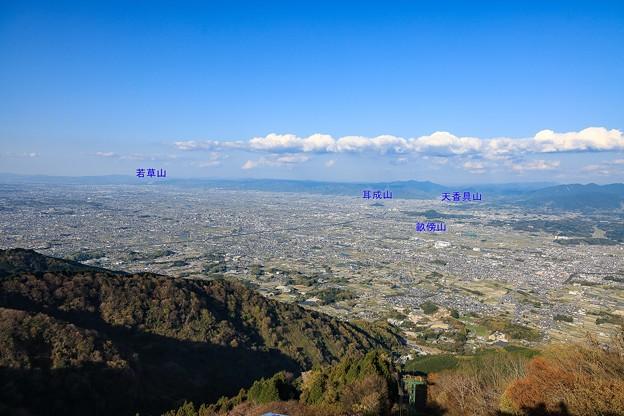 葛城山からの大和平野展望
