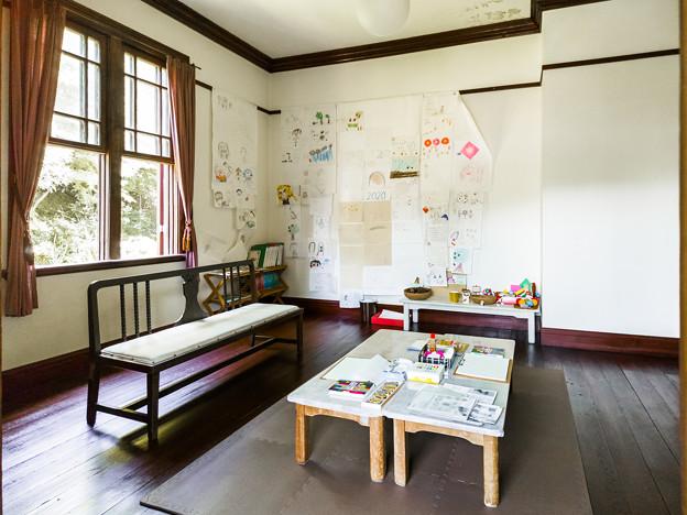 旧エンバーソン住宅 寝室(子育て支援の部屋)