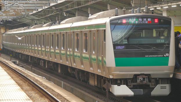 「撮り鉄」プラス「鳥鉄」!?…赤羽駅ホーム(2)