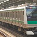 Photos: 「撮り鉄」プラス「鳥鉄」!?…赤羽駅ホーム(2)
