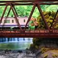 渓谷の鉄橋