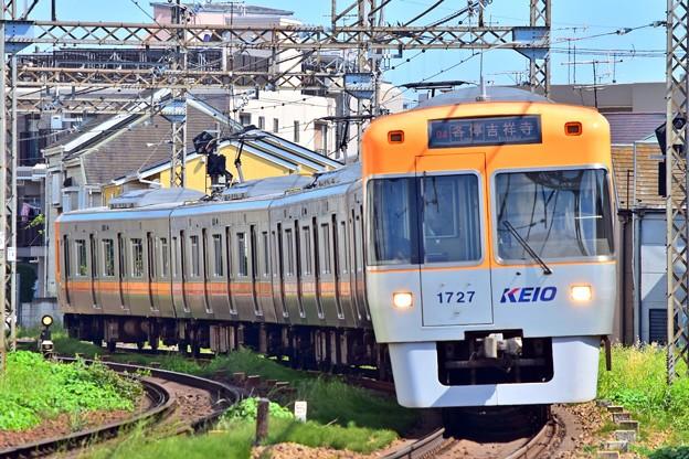 オレンジベージュの電車