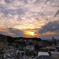 Photos: 暗雲の夕陽