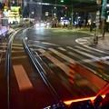 Photos: 夜のチン電すれ違い