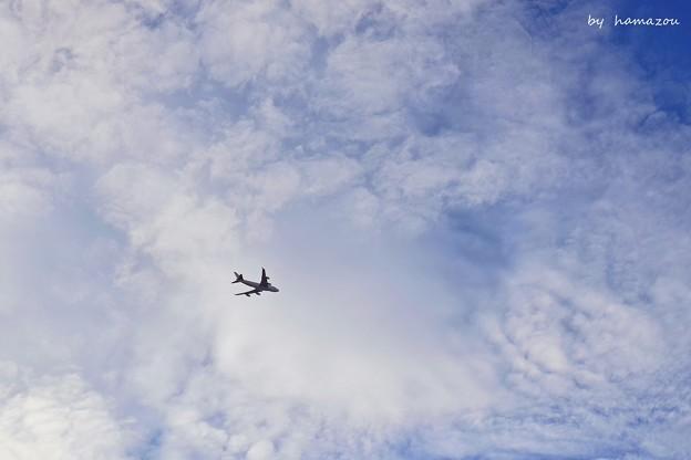 雲海の中へ