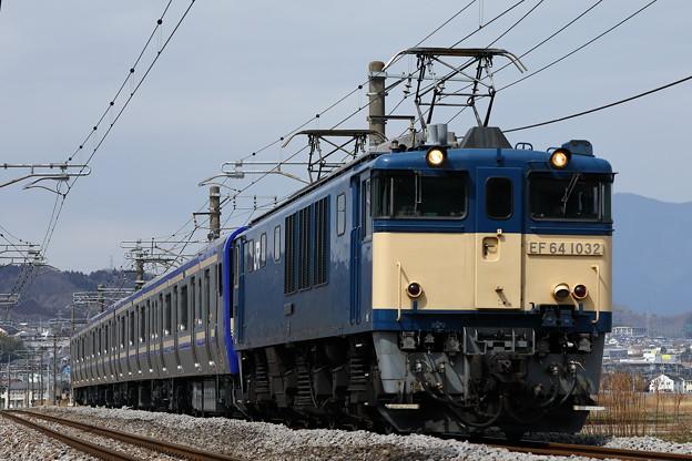 配9728レ EF64-1032+E235系J-08編成甲種輸送@ヤギシブ1