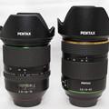 Photos: レンズ大きさ比較「DFA24-70mmF2.8」「HD DA★16-50mmF2