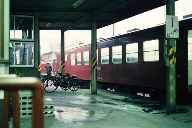 上山田駅にて
