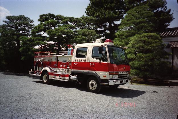 京都御所の消防車