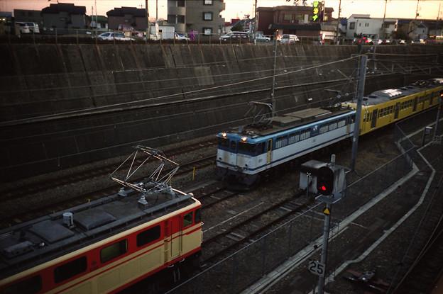 多摩川線の101系甲種輸送とE31形