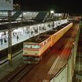 所沢駅の側線で一息つく101系回送列車