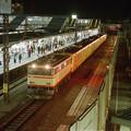 発車間際の101系回送列車