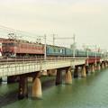*淀川鉄橋を行く「日本海」