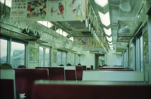 """""""団専""""(近鉄2600系)車内"""