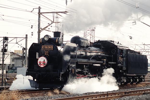 JR線を行くC58 363単機回送