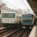 京浜東北線のE233系とのツーショット
