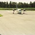 南大東空港に到着した琉球エアコミューターのDHC-8-103