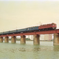 大淀川橋梁を行く下り「富士」