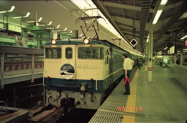 東京駅に到着直後の上り「瀬戸」