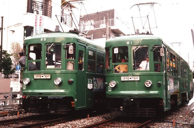 19991030東急世田谷線81と85@松陰神社前