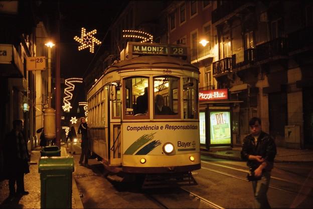 19990102夜のトラム@リスボン