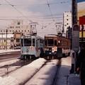 19880309函館市電512と712@函館駅前