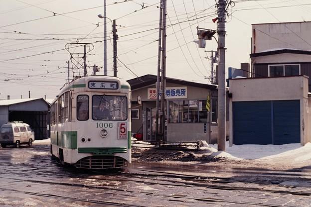 19880309函館市電1006@駒場車庫前