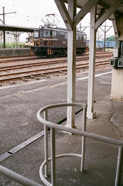 比奈駅にて