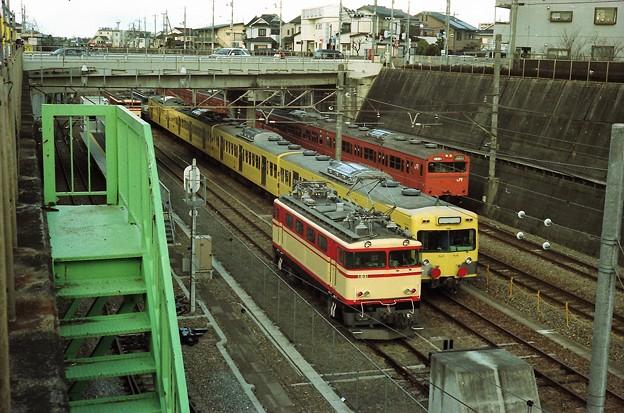 E31と西武101系とJR103系