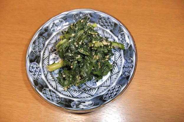 春菊の胡麻味噌和え