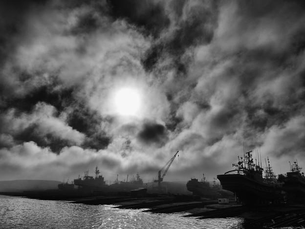 船揚場の空