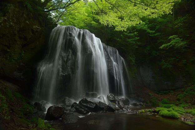 緑風滴り滝落つる