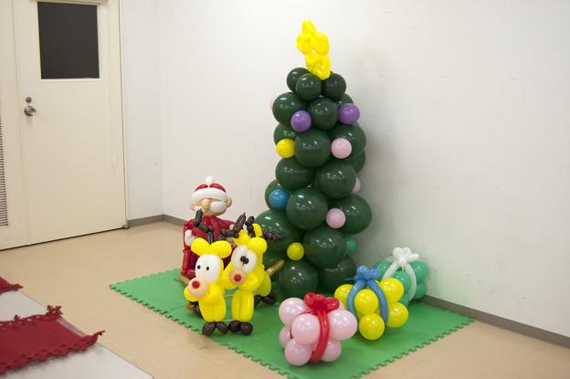 クリスマスのバルーンアート
