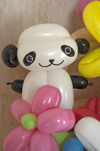 バルーンアートのパンダ