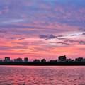Photos: 多摩川と夕焼け