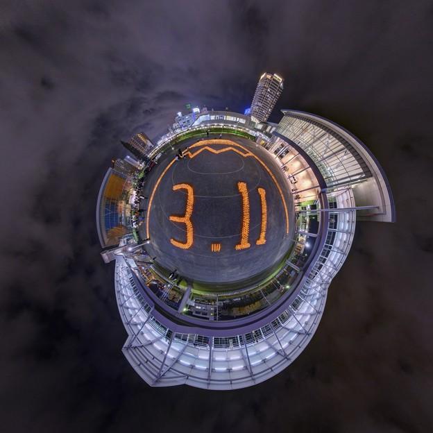 キャンドルナイト ― 2011年3月11日の記憶の為に 清水駅東口 Little Planet
