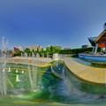 静岡市 常磐公園 噴水 昼景 360度パノラマ写真