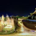 Photos: 静岡市 常磐公園 噴水 夜景 360度パノラマ写真