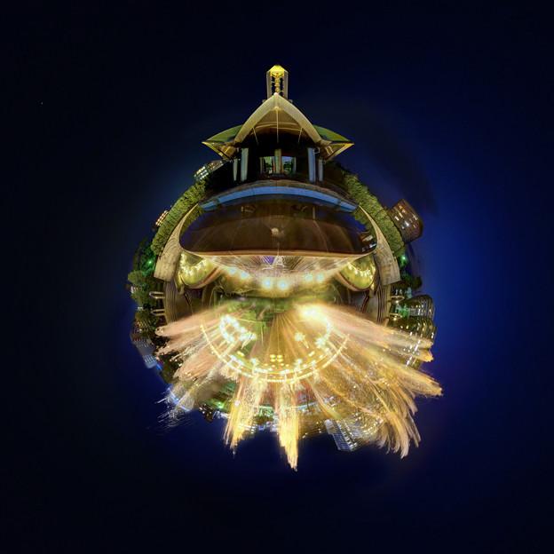 Photos: 静岡市 常磐公園 噴水 夜景 Little Planet