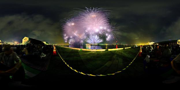 Photos: 清水みなと祭り 海上花火大会 360度パノラマ写真