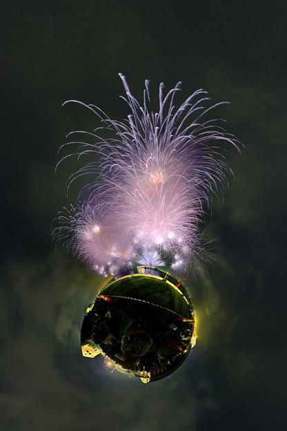 清水みなと祭り 海上花火大会 Little Planet