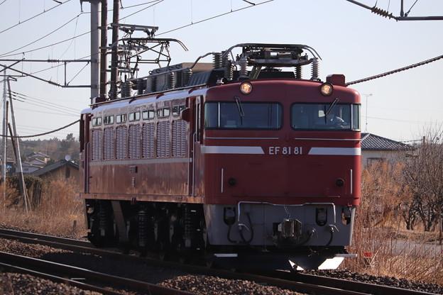 常磐線 単8942レ EF81 81 水戸常駐返却