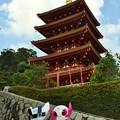 Photos: 五重塔とオリンピックマスコット人形