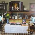 自宅の仏壇飾り
